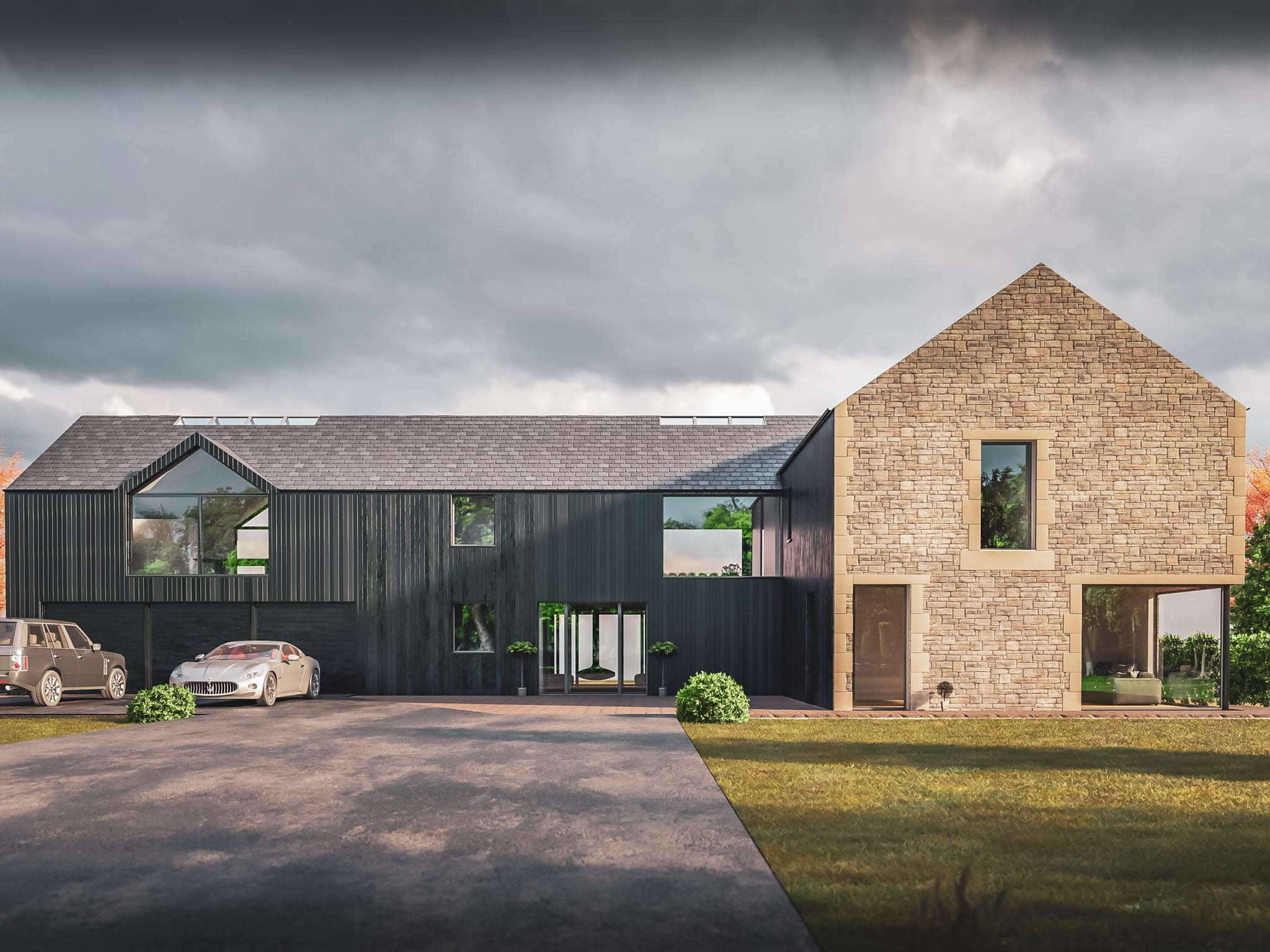 Planning submitted for new build house in Dollar